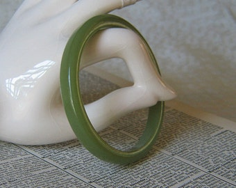 Vintage Sage Plastic Bangle