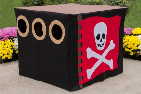 Pirate's Hideout Card Table Playhouse, Custom Order