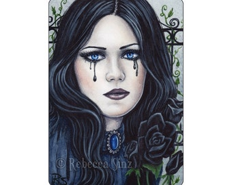 Mina Limited Edition ACEO Print Gothic Victorian Portrait Dracula Artist Trading Cards ATC Portrait