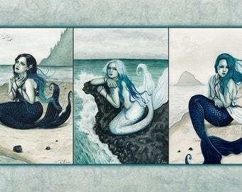 Sea Swept MERMAID Series 19x13 Print