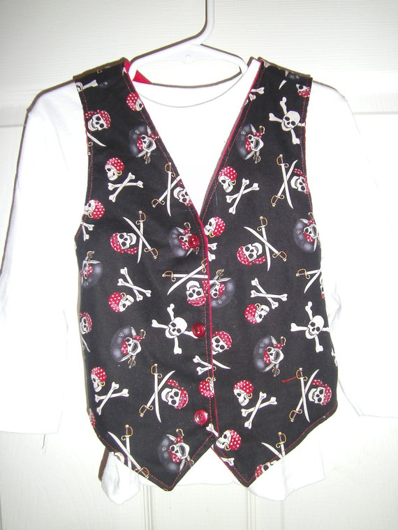 Vest, Boys, Reversable, Pirates, Infants, Toddler, Boys