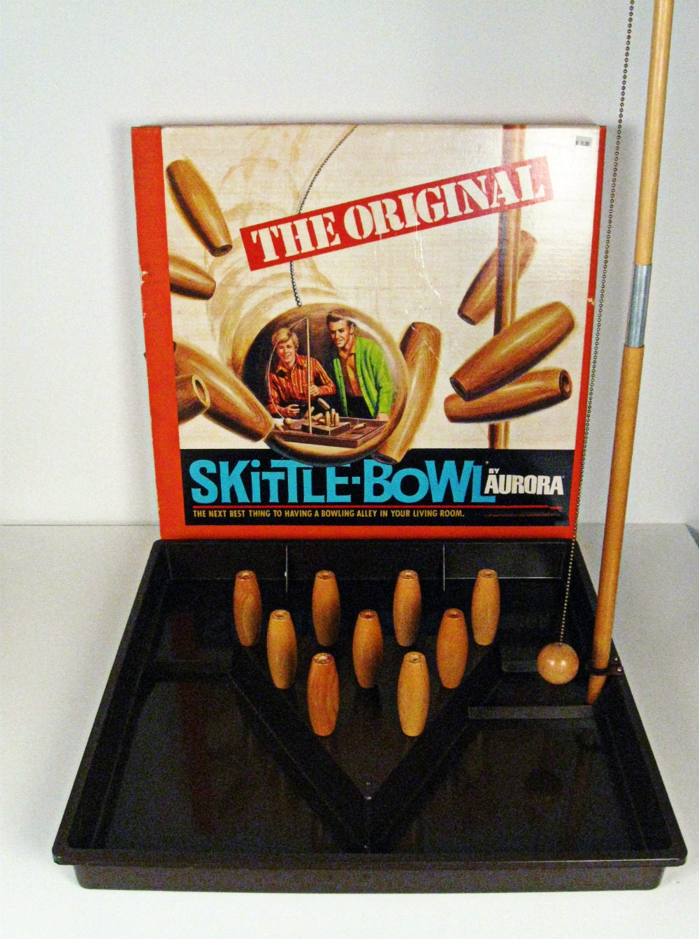 Vintage The Original Skittle Bowl Game Aurora Products