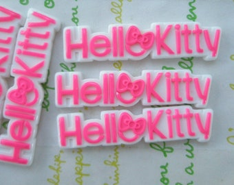 Hello Kitty letters with bow 4pcs Hot pink 47mm x 11mm