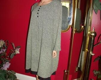 Vintage Dress Flapper Art Deco  does 30-50s Daytime Holiday Size 18
