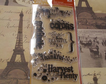 Harvest Expressions Clear Unmounted Stamps - 7 pieces
