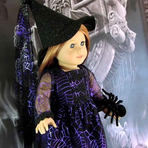 Princess Arachnida - Gothic Fantasy Witch Costume - American Girl doll clothes