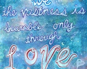 CLEARANCE SALE Word Art - Galaxy Art Print 8x10 Giclee