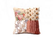 Chenille Pillow - Genevieve - Vintage Chenille Handmade Charm Pillow