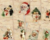 HOLIDAY CHEER TAgS collage Digital Images  -printable download file-