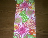 Flower Power Plastic Bag Holder -Purple - White - Green - Black - Gift