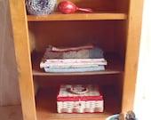 Vintage Child Community Playthings Wood Cabinet