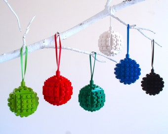 Christmas Decoration - Handmade with LEGO(r) Bricks. Christmas Bauble, Christmas tree Decoration, Stocking Filler
