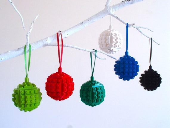 Christmas Decoration - Handmade with LEGO(r) Bricks. Christmas Bauble, Christmas tree Decoration, Stocking Filler