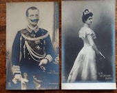 Last King & Queen of Italy, Victor Emmanuel III - 2 Postcards, Never Used - Early 1900s