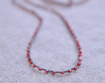 The Sparkle Is Enough minimalist beaded crocheted necklace