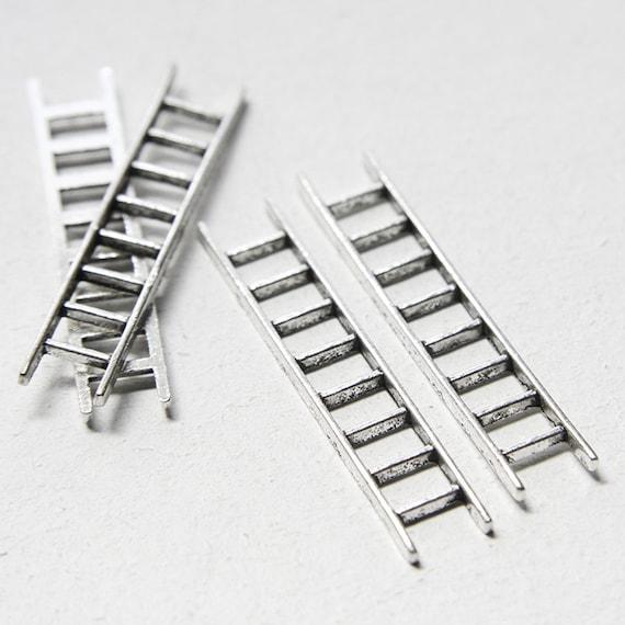 6pcs Oxidized Silver Tone Base Metal Charms-Ladder 51x10mm (13214Y-F-411)