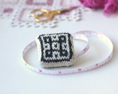 Hand knit Nordic Tape Measure