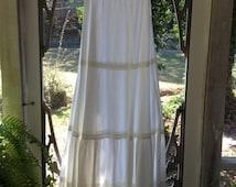 Vintage White Cotton Slip