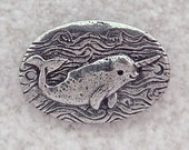 Green Girl Studios Narwal Whale Pewter Link