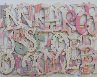 Pitter Patchwork - Chipboard Letters Alphabets and Scallop Cuts 1.5 inch