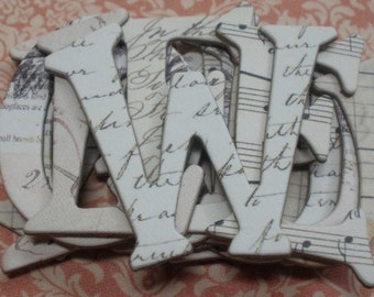 WORDSMiTH - Vintage Dictionary Chipboard Letters Alphabets and Tag Cuts 1.5 inch