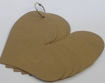 10 Page HEART ALBUM  - Chipboard Die Cuts - with Silver Book Ring and Decorative Extra's