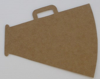 4 LARGE MEGAPHONE - Raw Alterable CHiPBOARD Bare Die Cuts