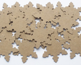 20 SMALL SNOWFLAKES - Raw Winter Christmas CHiPBOARD Bare Die Cuts