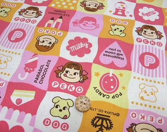 Peko Chan print Japanese Fabric Fat quarter