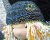 Hand Knit Hat for Waldorf or American Girl Doll