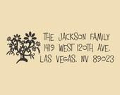 Custom Return Address Stamp With Whimsical Flower Design R048
