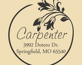 Custom Address Rubber Stamp Carpenter Design R050