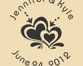 Custom Save the Date Jennifer and Kyle Custom Rubber Stamp Design WR009