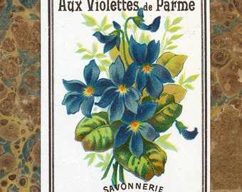 Antique Vintage French Apothecary Perfume Label 28