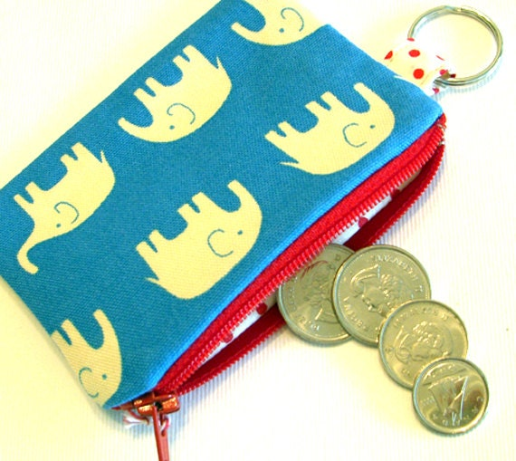 Happy elephant - coin pouch