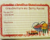 Pack of Grandmother's  Are Berry Special NIP Recipe Cards