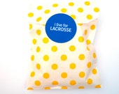 Favor Bags, Polka Dot, Yellow and White, Middy Bitty, Set of 20, 5 by 7 1/2 inches