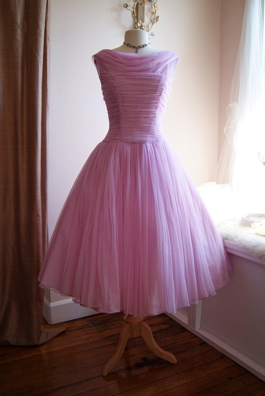 50s Dress 50s Prom Dress 50s Wedding Dress Vintage