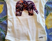 Springtime elephant onesie 9-12 months