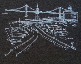 San Francisco Ferry Building and Bay Bridge Shirt