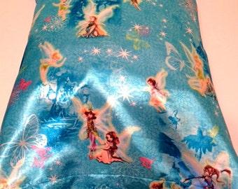 Fairies Theme Satin Child or Travel Pillowcase
