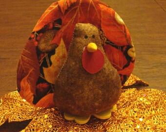Turkey Thanksgiving Decoration Autumn Decorations Stuffed Small Turkeys
