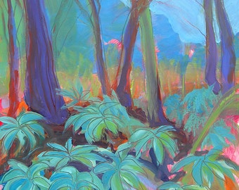 Park Trees 13 original abstract landscape oil painting