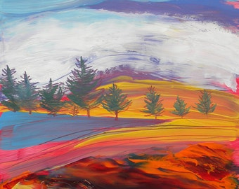 Valley Storm 6 original abstract oil painting