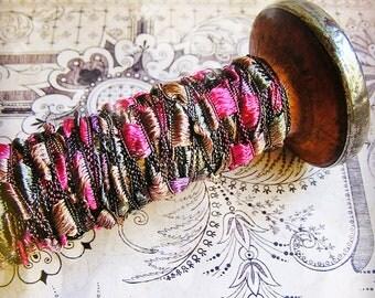 Raspberry Malt Pearly checked trim ribbon - elegant and silky embellishment craft wrap wedding supply holiday - 5 yards