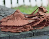 Boho Bohemian Lace Up Espardilles Shoes Brown US 9 Euro 40