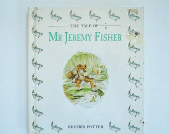 vintage beatrix potter book--The Tale of Mr. Jeremy Fisher--childrens book