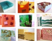 SOAP -6 handmade soaps with flat rate shipping.  Pick any 6 soaps from my shop.