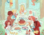 The Great Kid Lit Tea Party 12x18 poster print