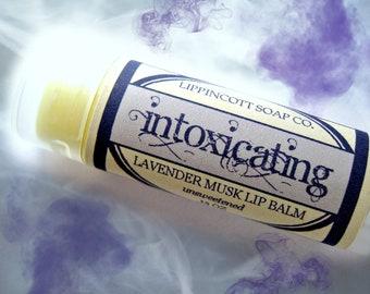 Intoxicating Lip Balm - Lavender Musk Lip Balm - Phthalate Free Lip Balm - Unsweetened Lip Balm - Floral Lip Balm
